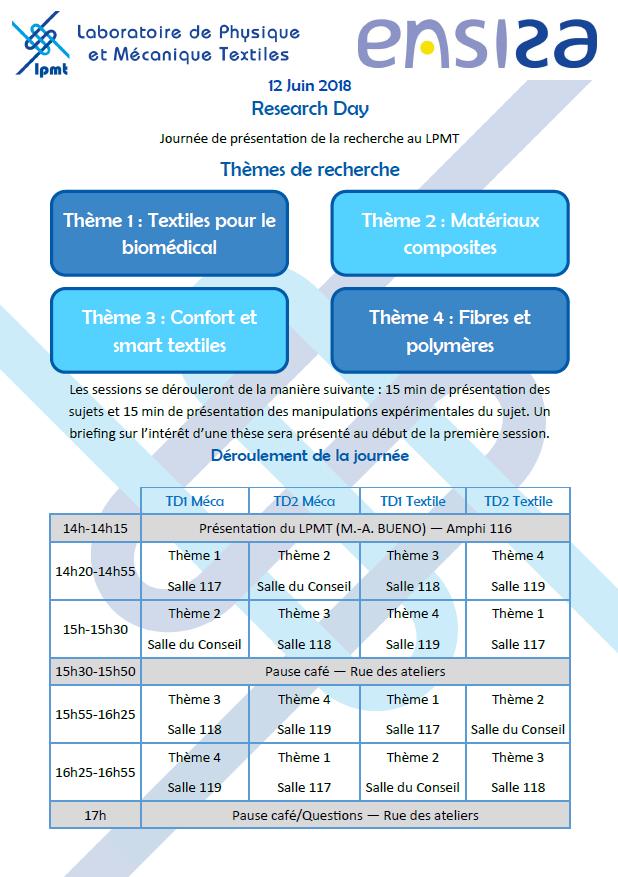 2ème édition Journée de la Recherche LPMT
